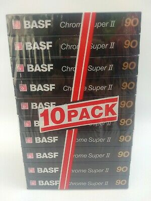 10 x BASF Chrome Super II 90 | Leerkassetten Typ 2 Chrom | MC Tape #2 | NEU