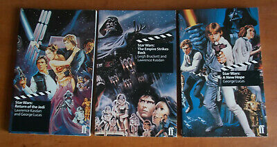 3 books STAR WARS, THE EMPIRE STRIKES BACK, RETURN OF THE JEDI. SCREENPLAYS.