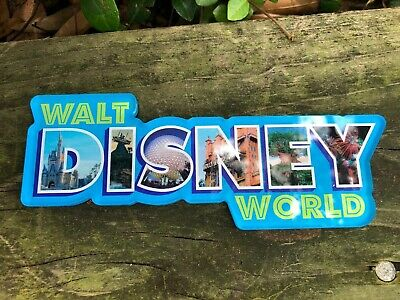Disney Parks Walt Disney World Logo Magnet4 Parks Photo  Letters NEW