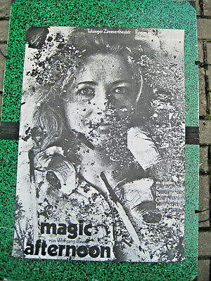 Tübinger Zimmertheater W.Bauer magic afternoon, Plakat, 1970, Grafik: Grindler