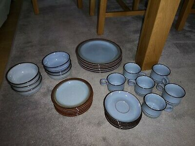 DENBY Imperial Blue China – plates bowls cup and saucer Job Lot Vintage