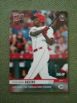 2019 Topps Now Aristides Aquino - Call UP #665 - 3HR Game 7HRS in First 10 Games