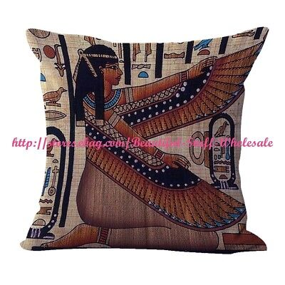 US SELLER- pillow cases Ancient Egyptian Isis fertility goddess cushion cover