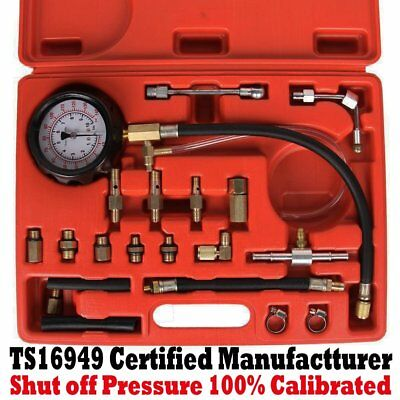 140 PSI Car Auto Fuel Injection Pump Injector Tester Test Pressure Gauge Kits