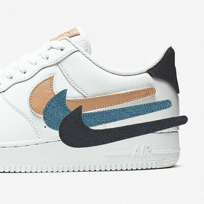 Nike Air Force 1 Low Script Swoosh Pack CK9257 100 White Black Red Size 4Y 13