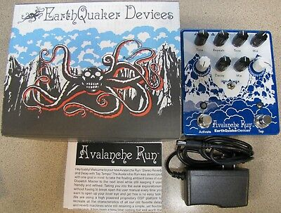 Used Earthquaker Devices Avalanche Run V2 Delay Reverb Guitar Effects Pedal!