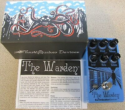 Used EarthQuaker Devices The Warden V2 Optical Compressor Guitar Effects Pedal