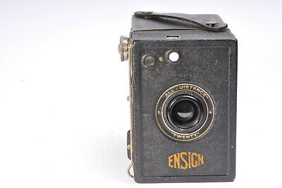 "Ensign ""All Distance"" Twenty 120 film Box Camera with Case"