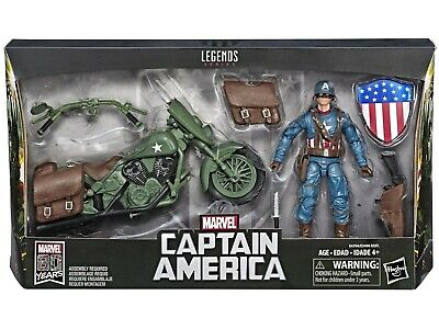 Marvel Comics 80th Anniversary Legends Series Captain America with Motorcycle