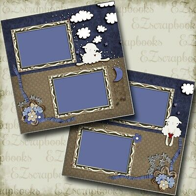 Counting Sheep - 2 Premade Scrapbook Pages - EZ Layout 3926