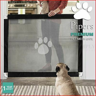 Pipers Pet Mesh Gate Dog Cat Guard Safety Barrier Retractable Enclosure Baby