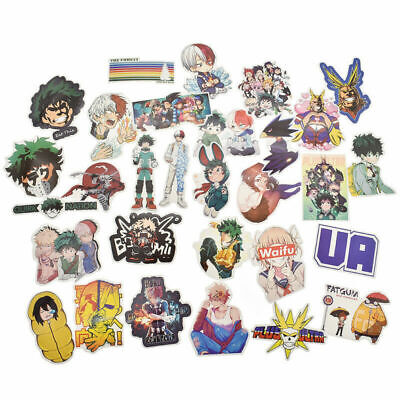 73 Pcs My Hero Academia Stickers Anime Boku No Hero Suitcase Skateboard Decor US