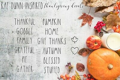 Rae Dunn Inspired Fall & Thanksgiving Vinyl Decals Farmhouse Style DIY 1.5inch