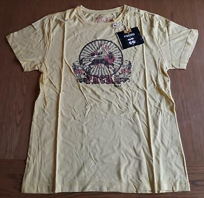 Bnwt Pacha Ibiza T-Shirt - Medium M Yellow Vintage Ibiza Club Posters Dj Music