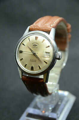 Rotary Super 41 Rotamatic Vintage Watch, Automatic, Super-Compressor Case