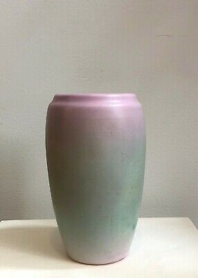 Weller Lavonia Vase, Art Deco Arts & Crafts Lavender Green Pink Pottery American