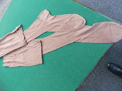 Vintage 1930's rayon and silk mix seamed stockings size 6?h