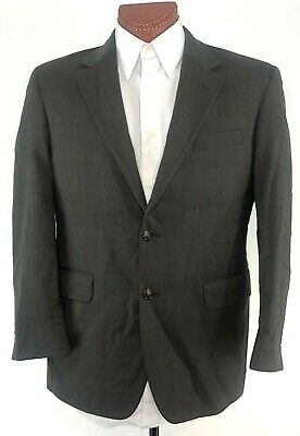 JOS A BANK 40S Brown Taupe Sports Coat Blazer 2 Button Vented Jacket 100% Wool