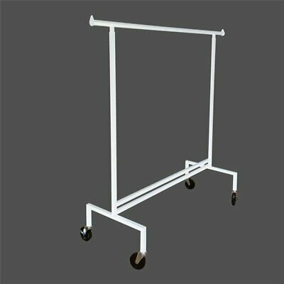 Straight Rack WHITE- Garment Clothes Clothing Laundry Hanger Holder portable