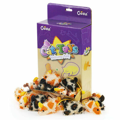 """18PCS 2"""" Catnip Cat Toys Mice Soft Mouse with Tassel Cat Kitten Interactive Play"""