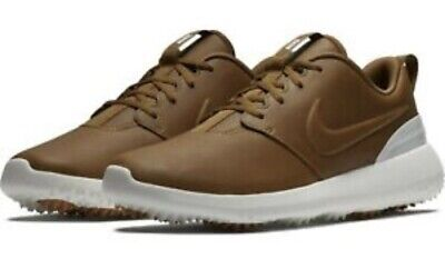 Nike Roshe G Premium Spikeless Golf Shoes Ale Brown Leather Aa1838 200 Mens 12 72 00 Picclick