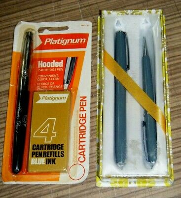 Vintage Unused Platignum Regal Pen Sets in Packets
