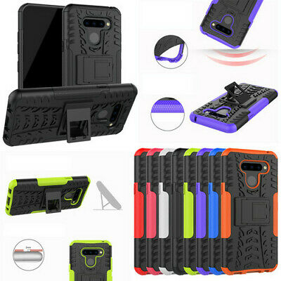 For Xiaomi Redmi Note 7 Rugged Hybrid Armor Shockproof Hard Case Stand Cover
