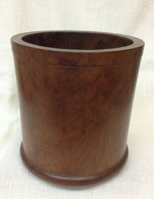 Antique Chinese Large Ming Qing Huanghuali Hard Wood Scholor Brush Pot Holder