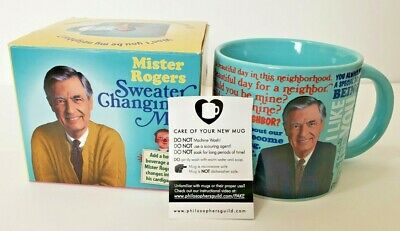 Mr Mister Fred Rogers Cardigan Sweater Changing Mug Coffee Cup Heat Activated