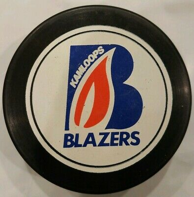 KAMLOOPS BLAZERS WHL Official Game Puck Made In Canada Jr  A