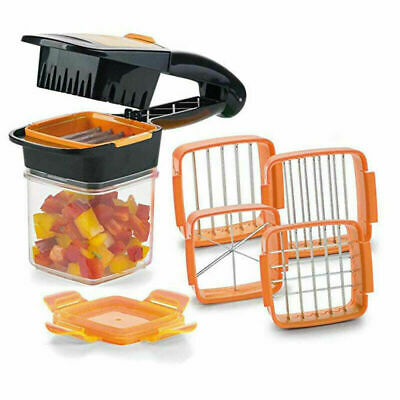 1PC 5 In 1 Nicer Quick Stainless Steel Vegetable Dicer Chopper Multi-functional