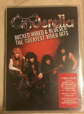 """Cinderella Rare """"Rocked, Wired, & Bluesed:The Greatest Video Hits - DVD - New"""