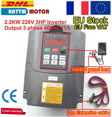 「FR」HY 2.2KW 220V VFD Inverter Converter Variable Frequency Drive Speed Control