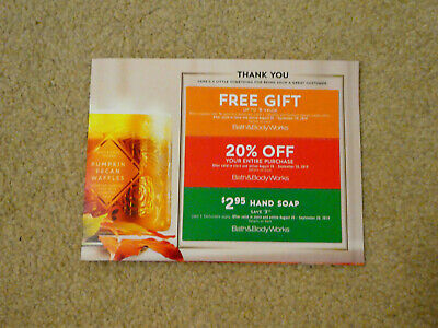 Lot of 3 Bath and Body Works coupon - $20% Off