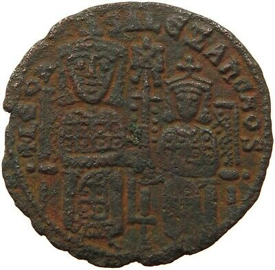 BYZANTINE EMPIRE LEO VI.  886-912 FOLLIS RATTO 1876 #sh 007