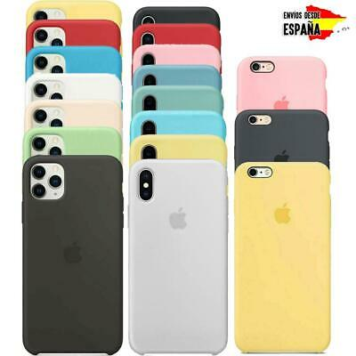 Funda para Apple iPhone X XS XR 8 7 6 6S Original carcasas Silicona Genuina