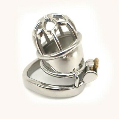 Male Short Chastity Cage Men's Stainless Steel Locking Belt Removable Tube CC230