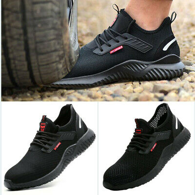 2019 Safety Shoes for Men Women  Steel Toe Trainers Lightweight Work Shoes  UK $