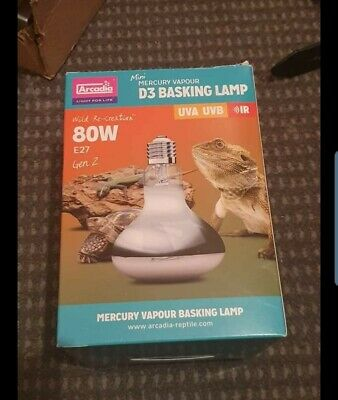Arcadia D3 UV Basking Lamp - 80w, 100w, 160w - Reptile Heat, Light & UV, UVA UVB