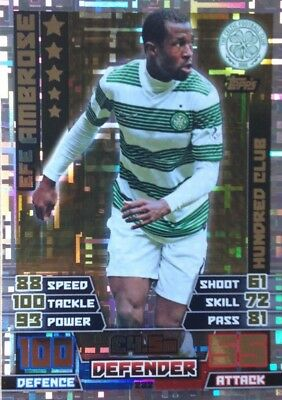 Match Attax 2014/15 Spfl  - Efe Ambrose 100 Club Card - Celtic #282