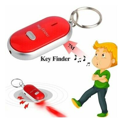 Whistle Lost Key Finder Flashing Beeping Locator Remote Chain LED Sonic Torch GF