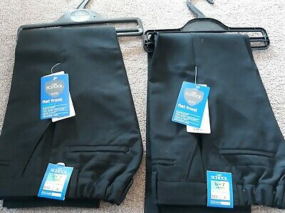 M&S Boys black School Trousers 2 Pairs Age 6-7 BNWT