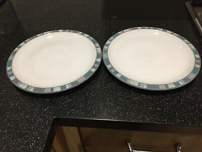 Denby Azure Coast Medium Plates X 2