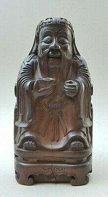Late Ming / Early Qing Finely Carved Antique Chinese God Of Wealth With Ingot