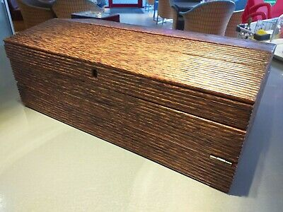 ANTIQUE colonial anglo-indian PALMWOOD PALM wood writing box slope WITH ROLLER