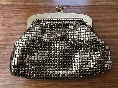STERLING MESH Gold Vintage Coin Purse Made In Australia