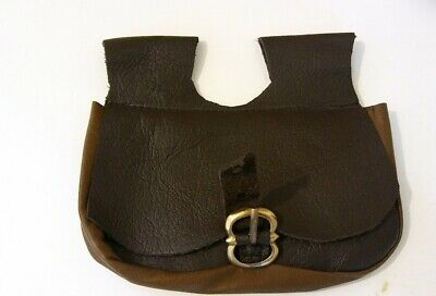Leather pouch bag Medieval Reenactment Live History