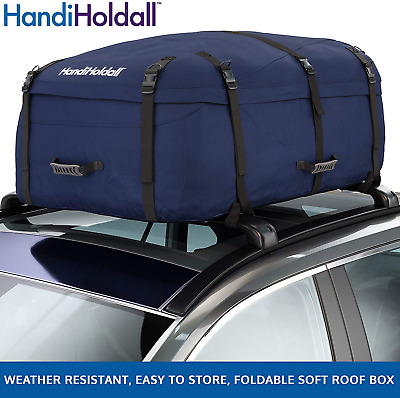 HandiHoldall Large Vehicle Roof Bag / Top Box (Navy Blue) – 330L Weather ...