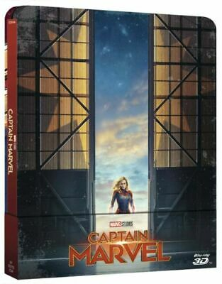 Captain Marvel Steelbook 3D and 2D Marvel Blu Ray New sub Sealed