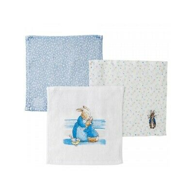 Beatrix Potter A29585 Peter Rabbit Baby Collection Face Cloth Set of 3